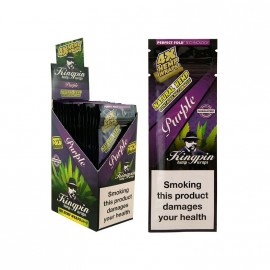 Kingpin Hemp Blunt x 4 - Purple - Box 25