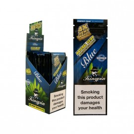 Kingpin Hemp Blunt x 4 - Blue - Box 25
