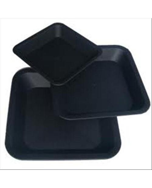 SOTTOVASO QUADRATO IN PLASTICA 33.5X33.5X4 CM (X VASO 25L)