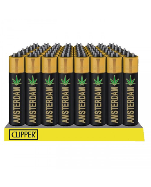 Clipper Lighters - Amsterdam Leaf GOLD