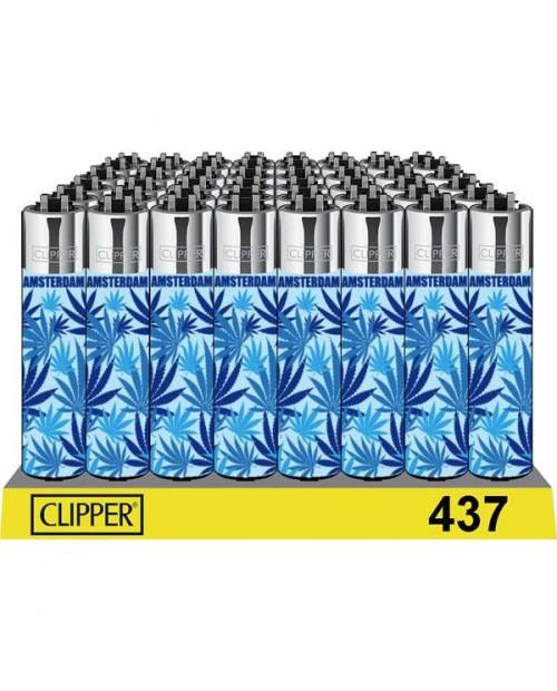 Clipper Lighters - Blue Leaf