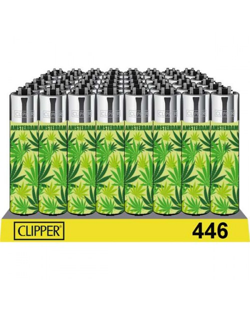 Clipper Lighters - Green Leaf