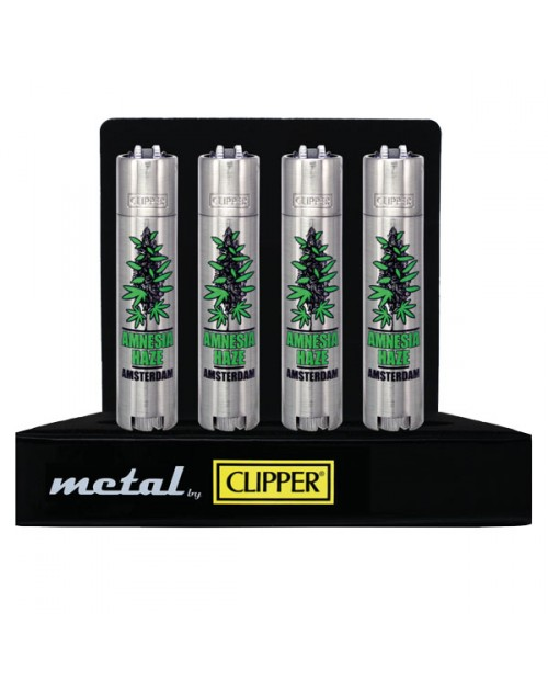 Metal Clipper Lighters - Buds