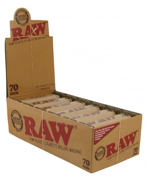 Raw Hemp Plastic Cigarette Rollers 110mm