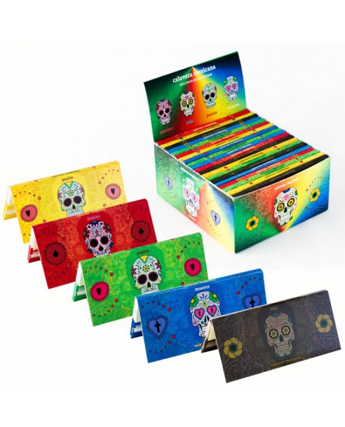 MEXICAN SUGAR SKULLS - MULTICOLOUR - KS ROLLING PAPERS WITH TIPS