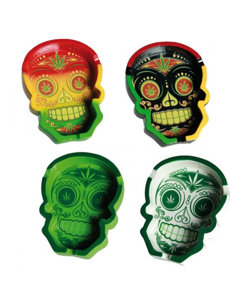 Cannabis Mexican Skull Ashtray -