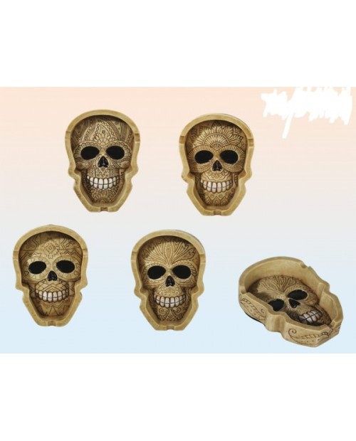Ornament Skull 1 Polyresin Ashtray 13cm -