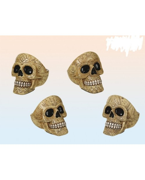 Ornament Skull 2 Polyresin Ashtray 12cm -