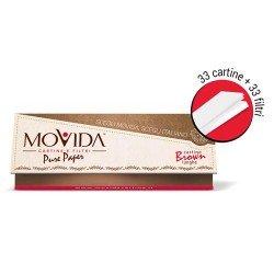 MOVIDA - CARTINE LUNGHE MARRONI + CARTA FILTRO - MADE IN ITALY