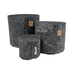 ROOT POUCH - CHARCOAL FABRIC VASE 30L